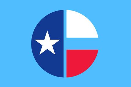La bandera del condado de Collin es un condado del estado estadounidense de Texas. Ilustración vectorial
