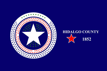 Flag of Hidalgo County is a county in the U.S. state of Texas. Vector illustration Ilustração