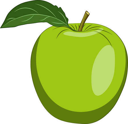 Apple green isolated on white background. Vector illustration Ilustração