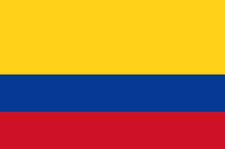 Flag of Republic of Colombia is a sovereign state largely situated in the northwest of South America, with territories in North America. Vector illustration 일러스트