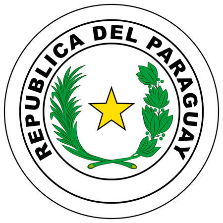 Coat of arms of Republic of Paraguay is a country of South America. Vector illustration Banque d'images - 131710124
