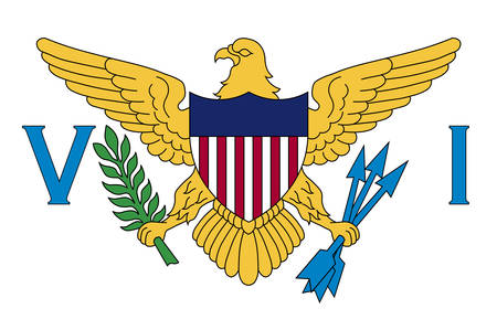 Flag of Virgin Islands of the United States is a group of islands in the Caribbean and an unincorporated and organized territory of the United States. Vector illustration