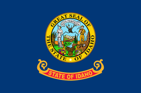 Flag of Idaho is a state in the northwestern region of the United States. Vector illustrator Banque d'images - 131711075