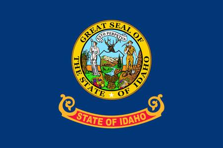 Flag of Idaho is a state in the northwestern region of the United States. Vector illustrator Ilustração