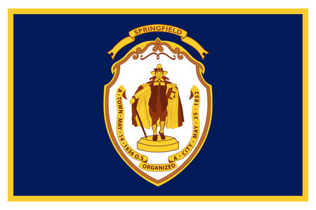 Flag of Springfield is a city in the state of Massachusetts, United States, and the seat of Hampden County. Vector illustration Banque d'images - 131711104