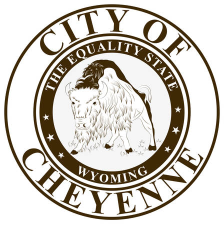 Coat of arms of Cheyenne is the capital and most populous city of the U.S. state of Wyoming and the county seat of Laramie County. Vector illustration