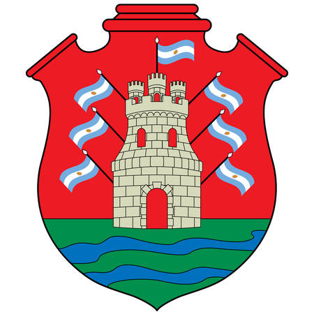 Coat of arms of Cordoba is a province of Argentina, located in the center of the country. Vector illustration