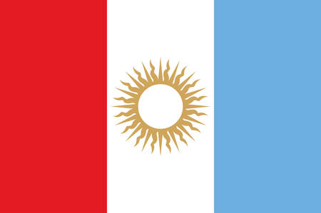 Flag of Cordoba is a province of Argentina, located in the center of the country. Vector illustration Banque d'images - 134948275