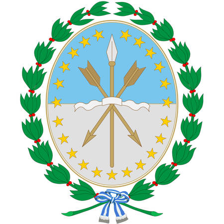 Coat of arms of The Province of Santa Fe is a province of Argentina, located in the center-east of the country. Vector illustration Banque d'images - 134948276