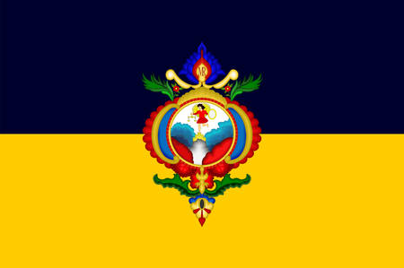 Flag of Tegucigalpa, Municipality of the Central District and colloquially referred to as Tegus or Teguz is the capital and largest city of Honduras. Vector illustration Banque d'images - 134948295