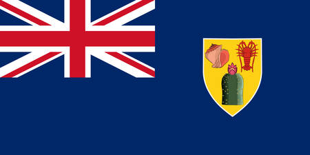Flag of Turks and Caicos Islands are a British Overseas Territory consisting of the larger Caicos Islands and smaller Turks Islands, two groups of tropical islands in the Lucayan Archipelago of the Atlantic Ocean and northern West Indies. Vector illustration Banque d'images - 134948329