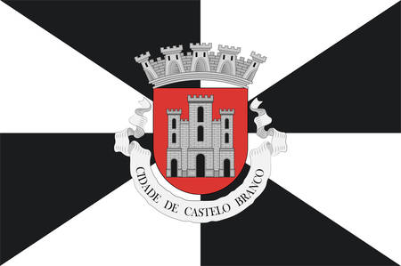 Flag of Castelo Branco is a municipality and former bishopric in Castelo Branco District, in Centro Region, Portugal. Vector illustration Banque d'images - 134948336