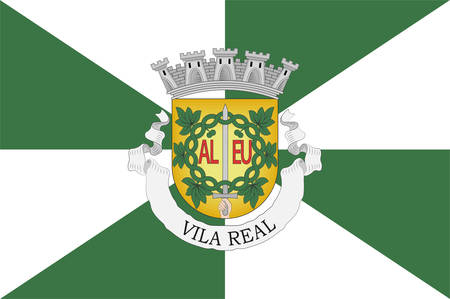 Flag of Vila Real is the capital and largest city of the Vila Real District, northern Portugal. Vector illustration 向量圖像