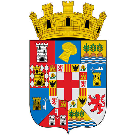 Coat of arms of Almeria is a province of the Autonomous Community of Andalusia, Spain. Vector illustration Çizim