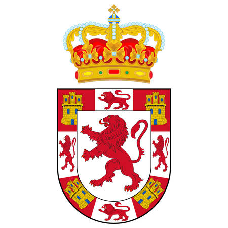 Coat of arms of Cordoba is a province of southern Spain, in the north-central part of the autonomous community of Andalusia. Vector illustration Çizim