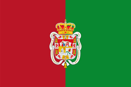 Flag of Granada is the capital city of the province of Granada, in the autonomous community of Andalusia, Spain. Vector illustration Çizim