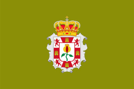 Flag of Granada is a province of southern Spain, in the eastern part of the autonomous community of Andalusia. Vector illustration  イラスト・ベクター素材