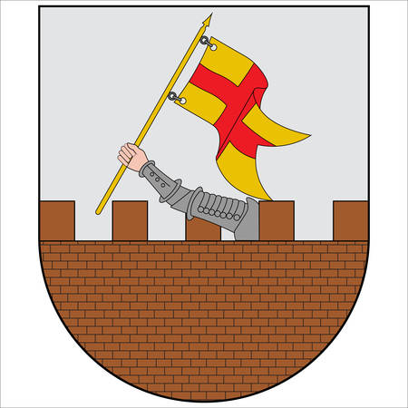 Coat of arms of Amurrio is a town and municipality located in the northwest part of the province of Alava, in the Basque Country, northern Spain. Vector illustration 向量圖像