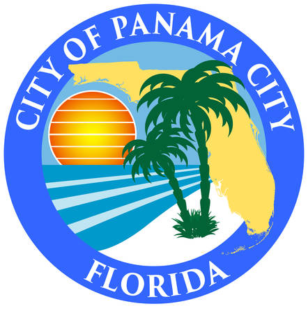 Coat of arms of Panama City is a city and the county seat of Bay County, Florida, United States. Vector illustration
