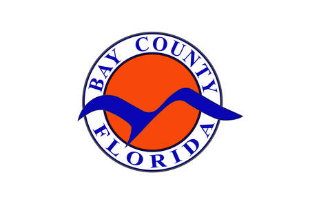 Flag of Bay County is a county in the U.S. state of Florida. Vector illustration 向量圖像