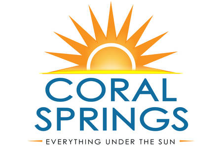 Coat of arms of City of Coral Springs, is a city in Broward County, Florida, United States. Vector illustration