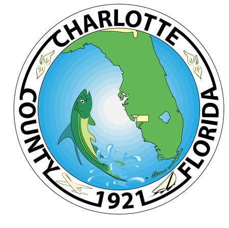 Coat of arms of Charlotte County is a county located in the U.S. state of Florida. Vector illustration