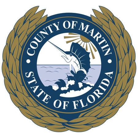Coat of arms of Martin County is a county located in the Treasure Coast region of the state of Florida, in the United States. Vector illustration 向量圖像
