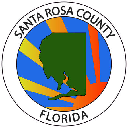 Coat of arms of Santa Rosa County is a county located in the northwestern portion of the U.S. state of Florida. Vector illustration
