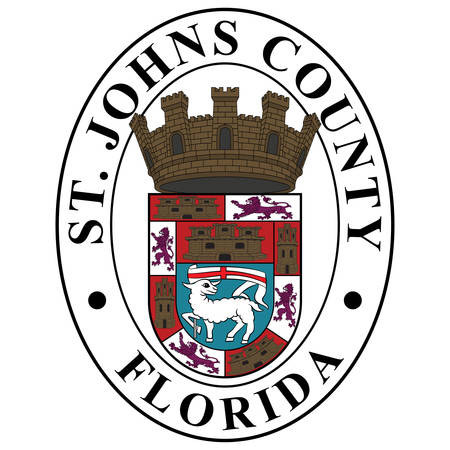 Coat of arms of St. Johns County is a county of the U.S. state of Florida. Vector illustration 向量圖像