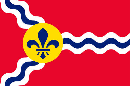 Flag of St. Louis is a major independent city and inland port in the U.S. state of Missouri. Vector illustration 向量圖像