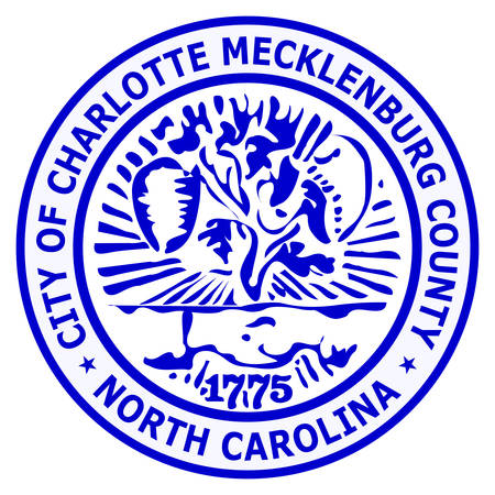 Coat of arms of Charlotte is the most populous city in the U.S. state of North Carolina. Vector illustration