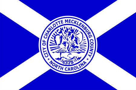 Flag of Charlotte is the most populous city in the U.S. state of North Carolina. Vector illustration 向量圖像
