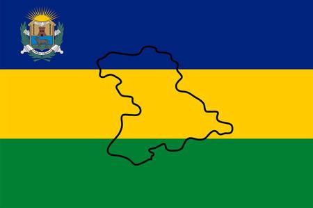 Die Flagge des Bundesstaates Anzoategui ist einer der 23 Teilstaaten Venezuelas. Vektor-Illustration Vektorgrafik