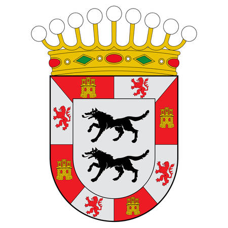 Coat of arms of Cuadrilla de Ayala is a comarca of the province of Alava, Spain. Vector illustration