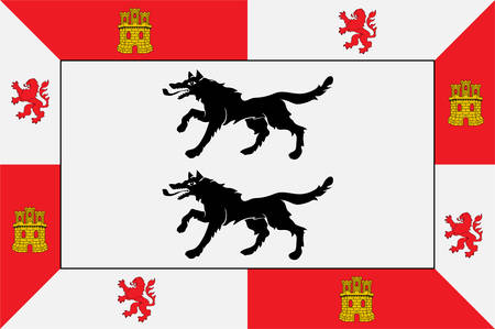 Flag of Cuadrilla de Ayala is a comarca of the province of Alava, Spain. Vector illustration