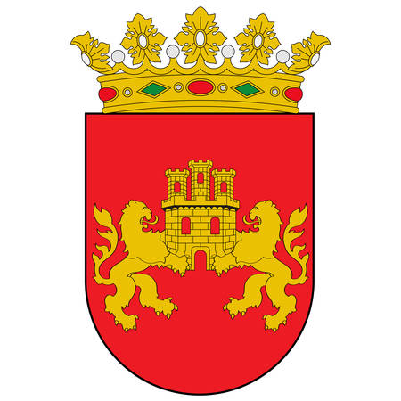 Coat of arms of Cuadrilla de Zuia is a comarca of the province of Alava, Spain. Vector illustration