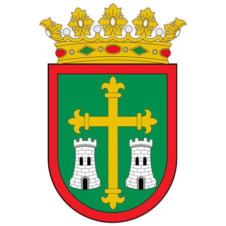 Coat of arms of Campezo is a municipality located in the province of Alava, in the Basque Country, northern Spain. Vector illustration