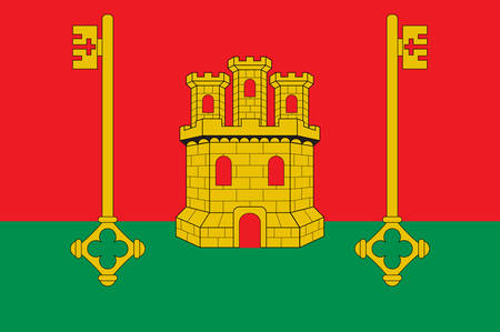 Flag of Rioja Alavesa is one of seven comarcas that make up the province of Alava, Spain. Vector illustration 向量圖像
