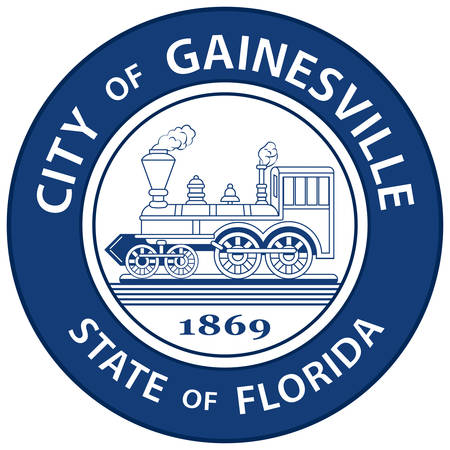 Coat of arms of Gainesville is the county seat and largest city in Alachua County, Florida, United States, and the principal city of the Gainesville, Florida, metropolitan statistical area. Vector illustration