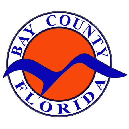 Coat of arms of Bay County is a county in the U.S. state of Florida. Vector illustration