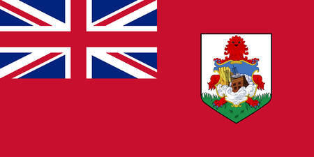 Flag of Islands of Bermuda is a British Overseas Territory in the North Atlantic Ocean. Vector illustration Ilustração