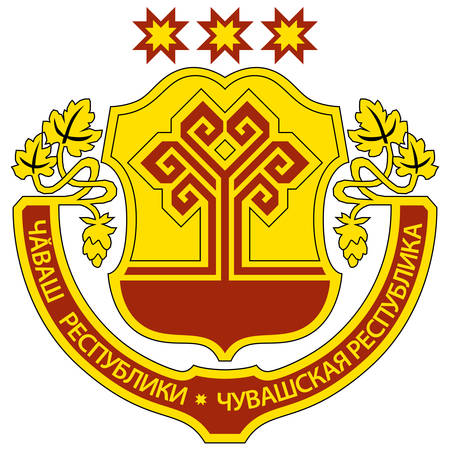 Coat of arms of Chuvash Republic is a federal subject of Russia. Vector illustration