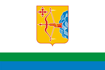 Flag of Kirov Oblast is a federal subject of Russia. Vector illustration