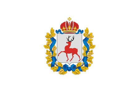 Flag of Nizhny Novgorod Oblast is a federal subject of Russia. Vector illustration