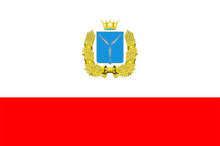 Flag of Saratov Oblast is a federal subject of Russia in the Volga Federal District.. Vector illustration