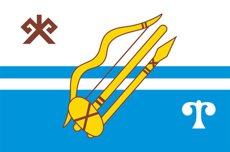 Flag of Gorno-Altaysk is the capital town of the Altai Republic, Russia. Vector illustration 矢量图像