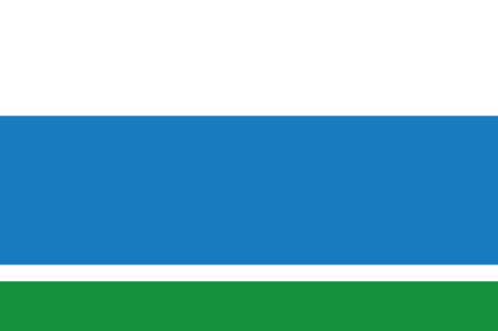 Flag of Sverdlovsk Oblast is a federal subject of Russia located in the Ural Federal District. Vector illustration