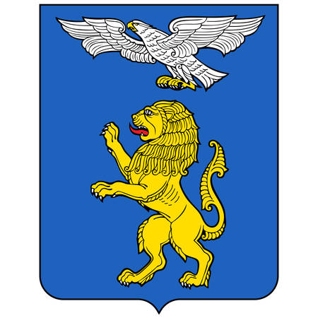 Coat of arms of Belgorod is a city and the administrative center of Belgorod Oblast, Russia. Vector illustration 矢量图像