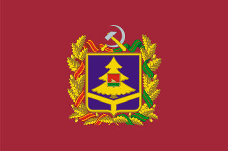 Flag of Bryansk Oblast is a federal subject of Russia. Vector illustration