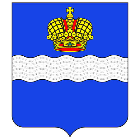 Coat of arms of Kaluga is a city and the administrative center of Kaluga Oblast, Russia. Vector illustration